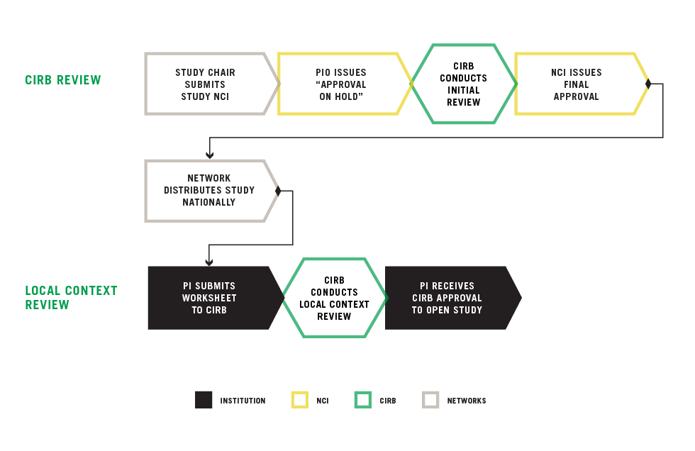A flowchart of the CIRB review process